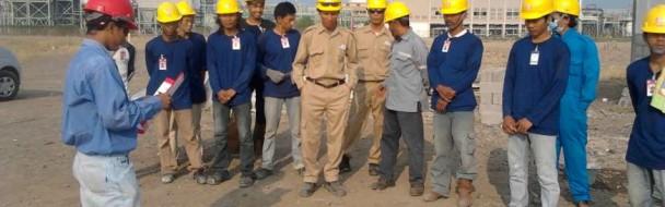 Safety Meeting at Asahimas Project
