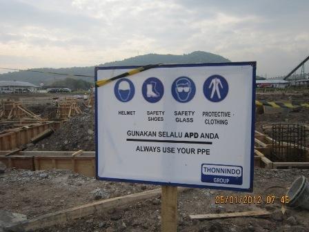 Safety Reminder at Asahimas Project
